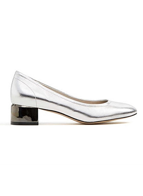 Aldo Kalın Topuklu Ayakkabı Gümüş